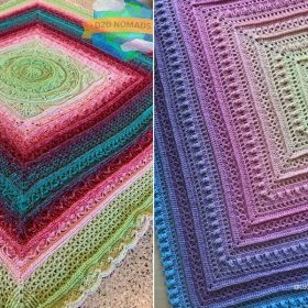 Charming Ombre Afghans with Free Crochet Patterns
