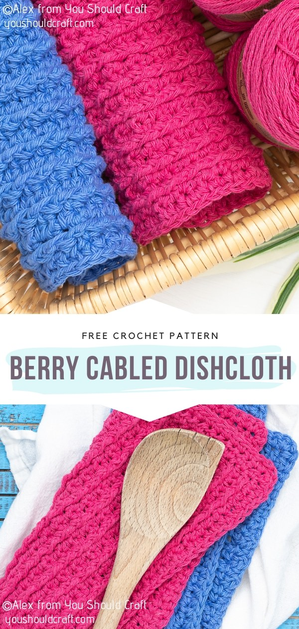 Crochet Cabled Dishcloth