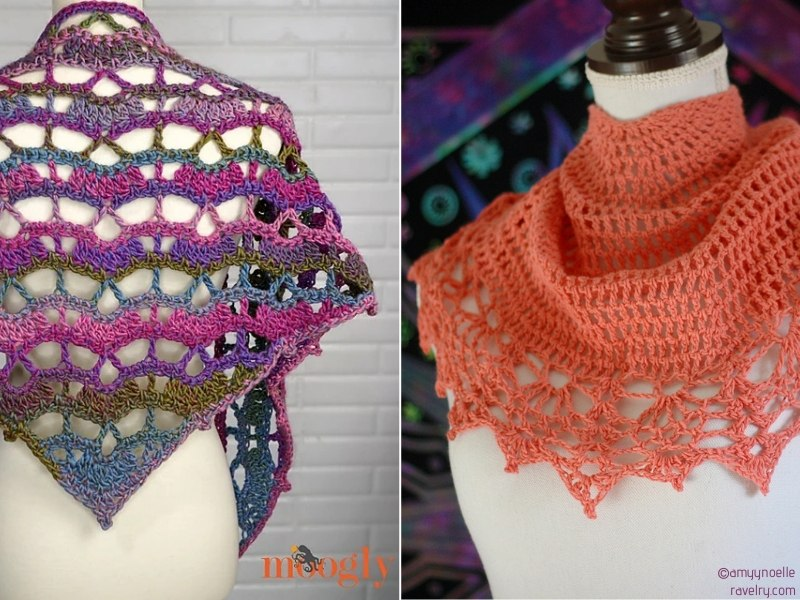 Color Boost Lacy Shawls