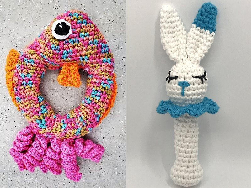 Colorful Rattles Free Crochet Patterns