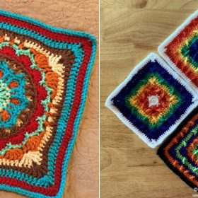 Colorful Squares Free Crochet Patterns