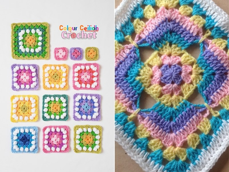 Easy Spring Squares Free Crochet Patterns