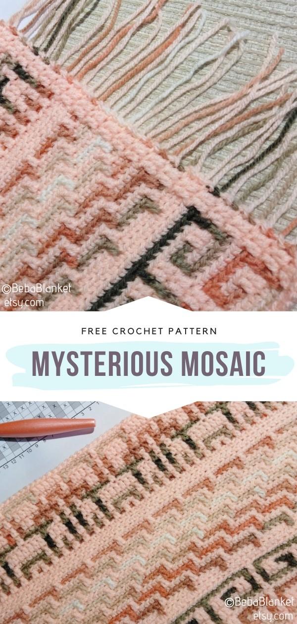 Mysterious Mosaic Crochet Blanket