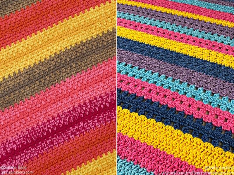Power of Stripes Blankets Free Crochet Patterns