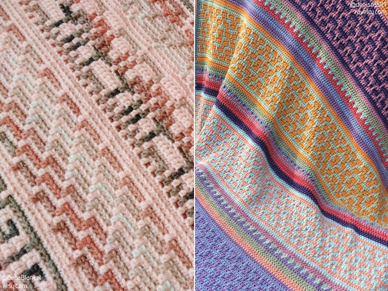 Pretty Mosaic Crochet Blankets