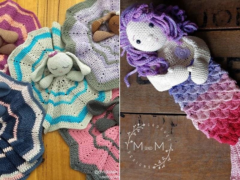 Colors of the Rainbow Crochet Loveys