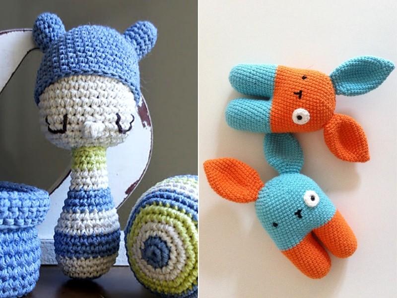 Color Block Rattles Free Crochet Patterns