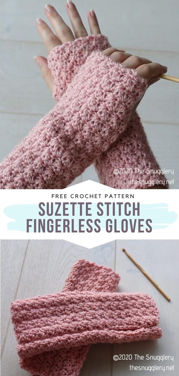 Suzette Stitch Fingerless Gloves