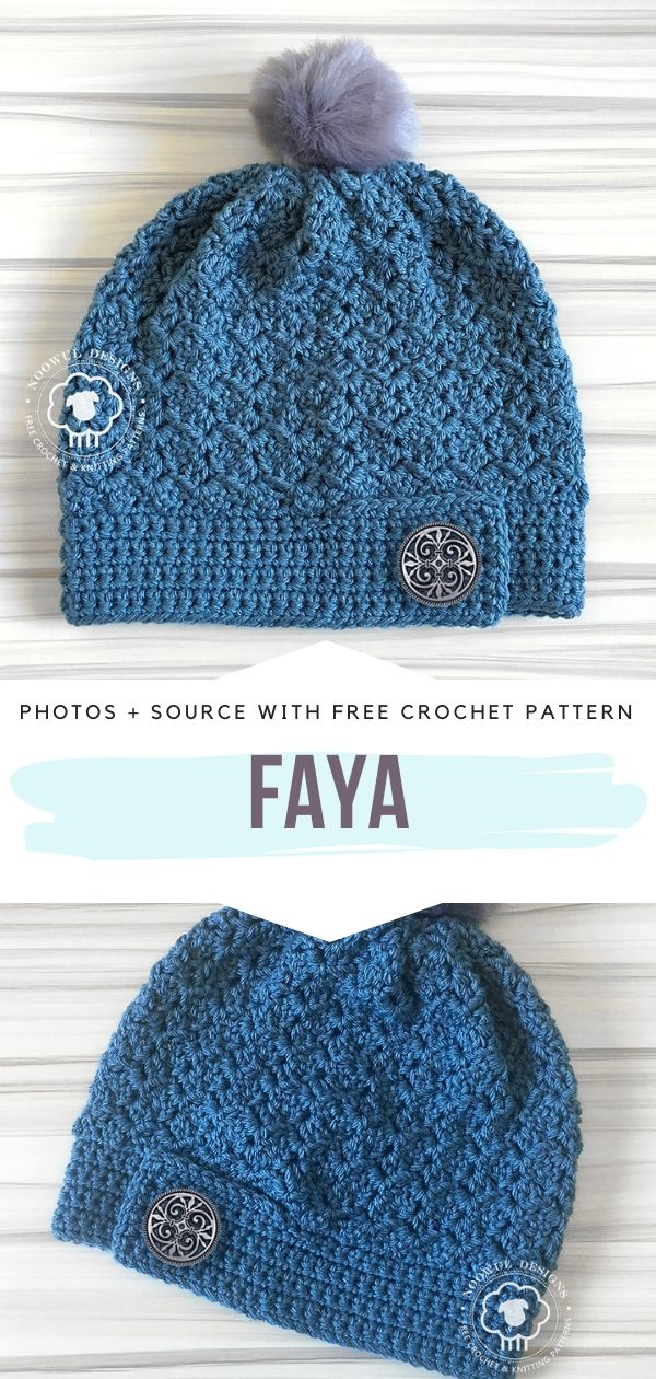 Free Crochet Pattern Faya Beanie