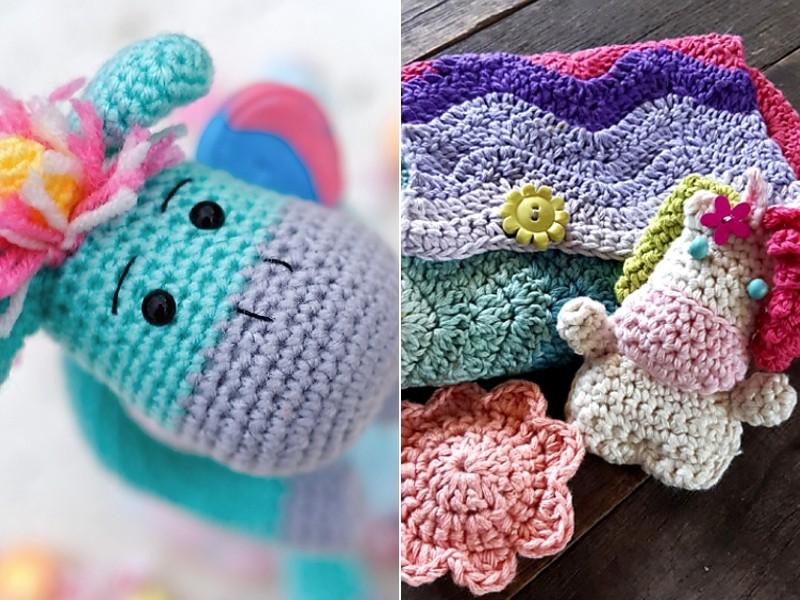 Playing with Unicorns Toys Free Crochet Patterns