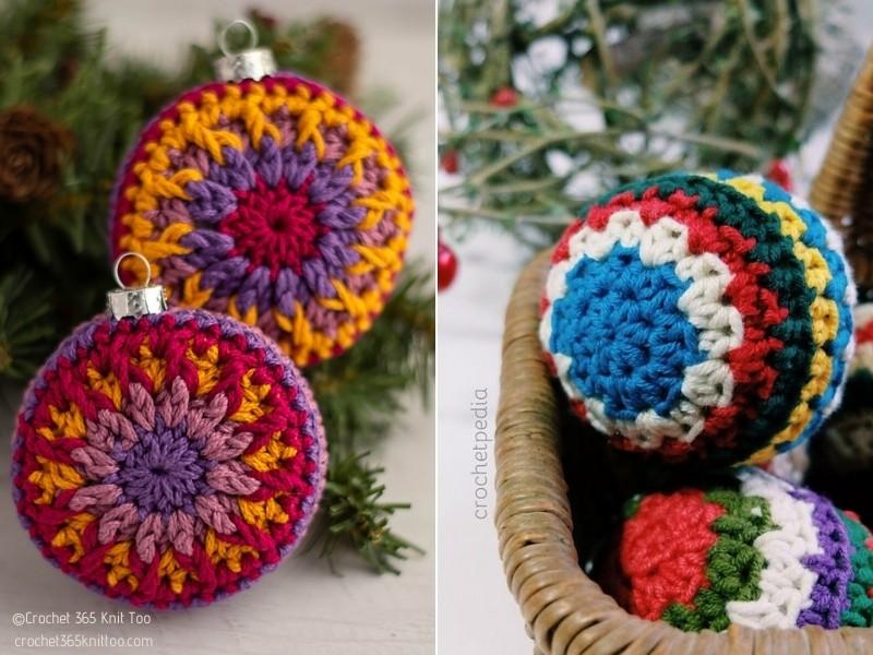 Classic Christmas Ornaments Free Crochet Patterns