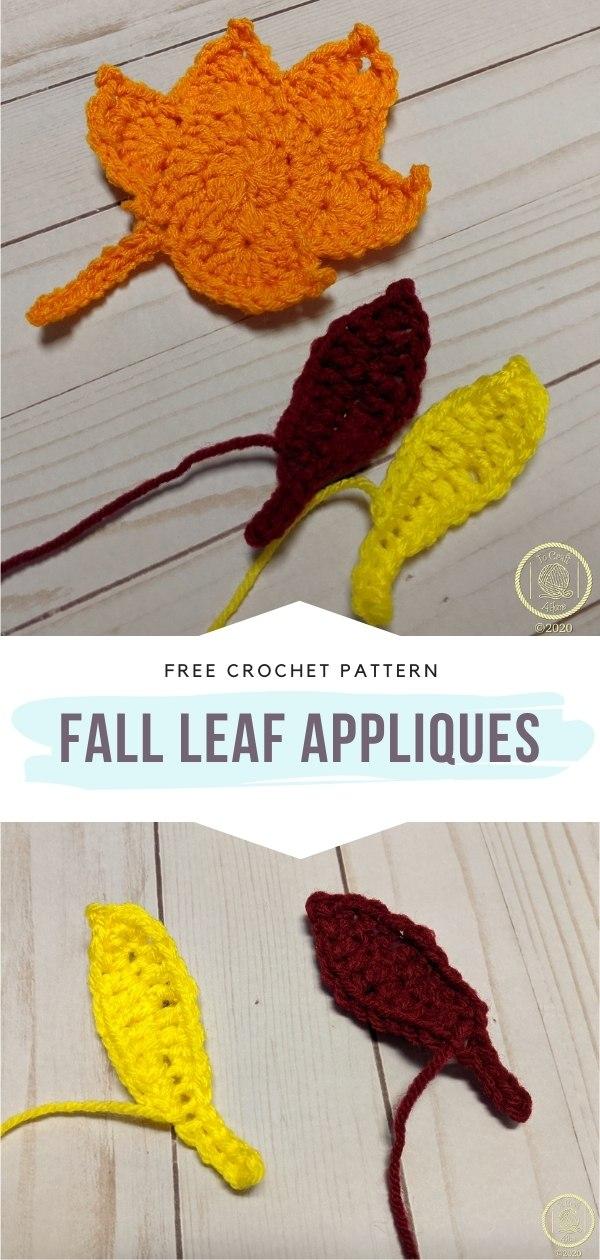 Crochet Leaf Appliques