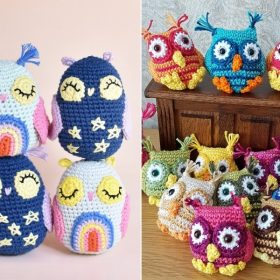 Colorful and Sweet Little Crochet Owls with Free Patterns