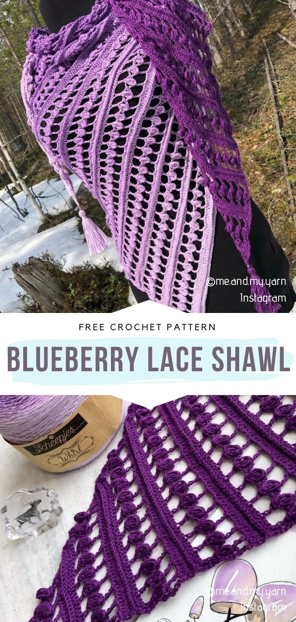 Blueberry Lace Shawl
