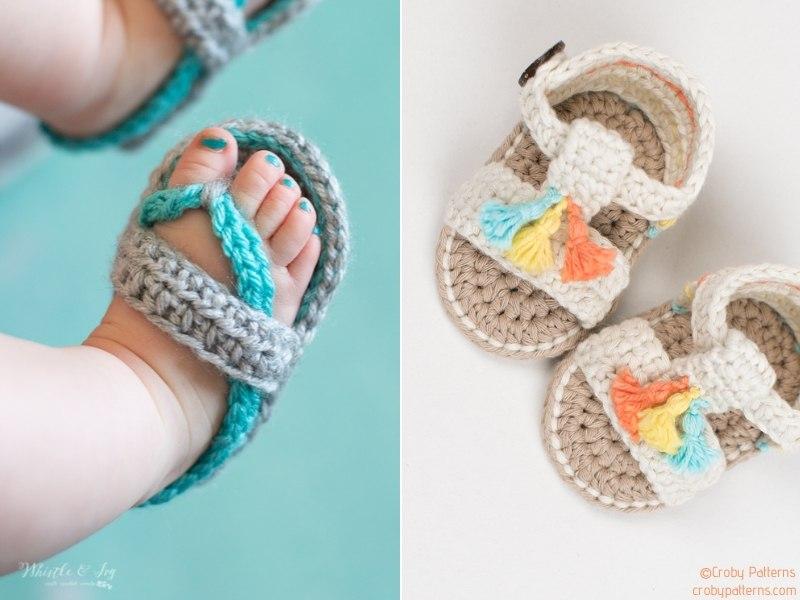 Crochet Summer Baby Sandals