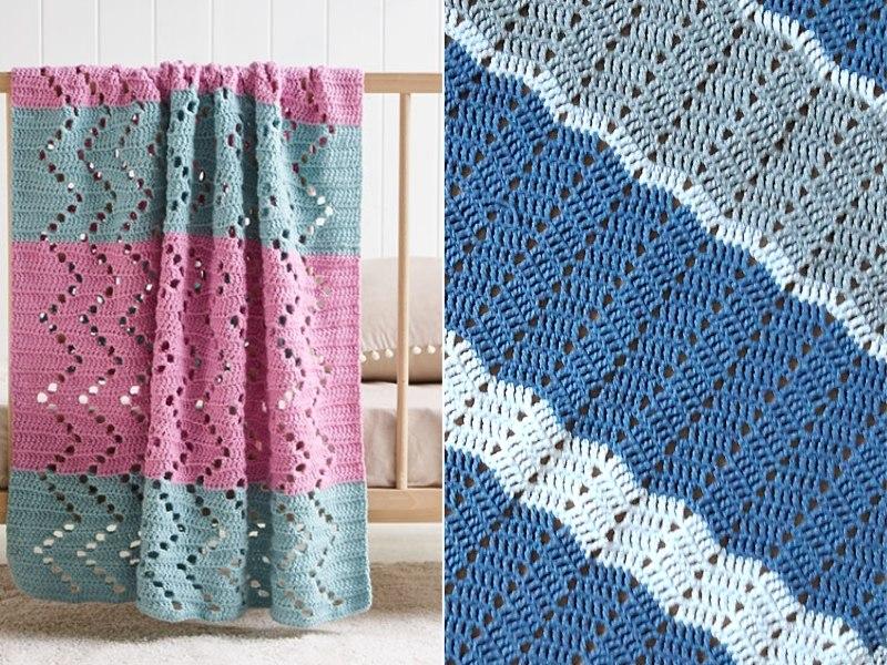 Charming Chevron Throws Free Crochet Patterns