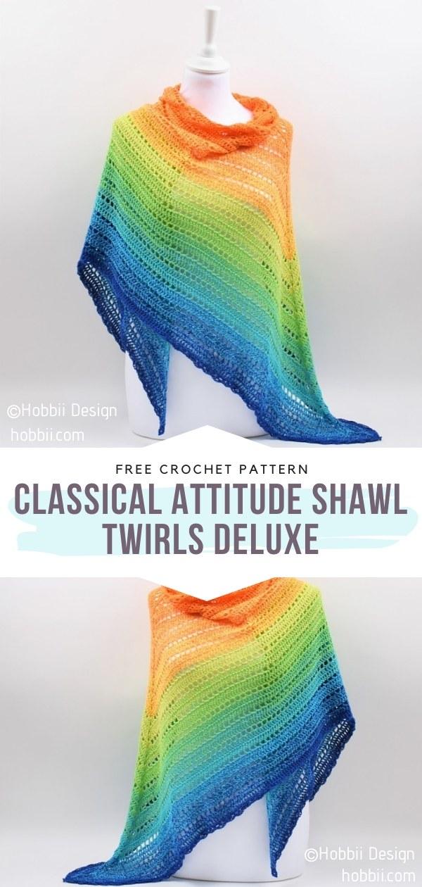 Rainbow Crochet Shawl