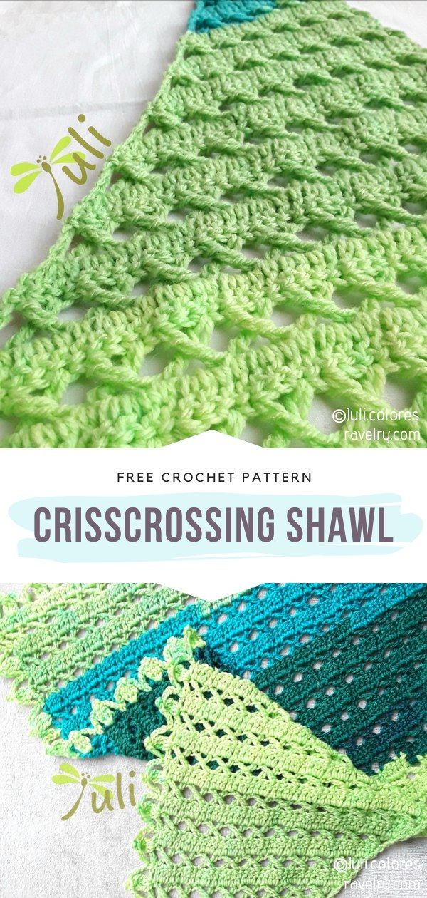 Crisscrossing Crochet Shawl