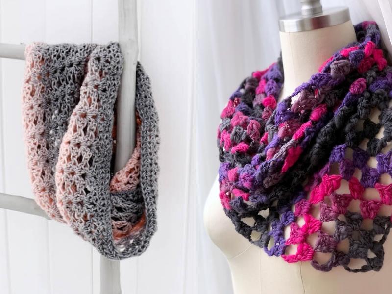Feminine Cowls Free Crochet Pattern