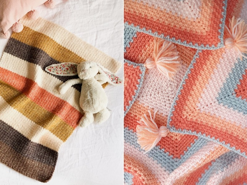 Touch of Peach Baby Blankets Free Crochet Patterns