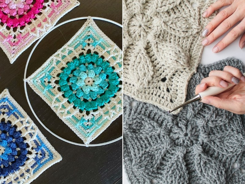 Intricate Squares Free Crochet Patterns