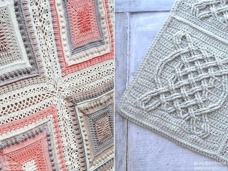 Delightful Squares Crochet Afghans