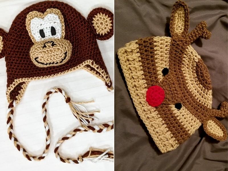 Funny Animal Hats Free Crochet Patterns