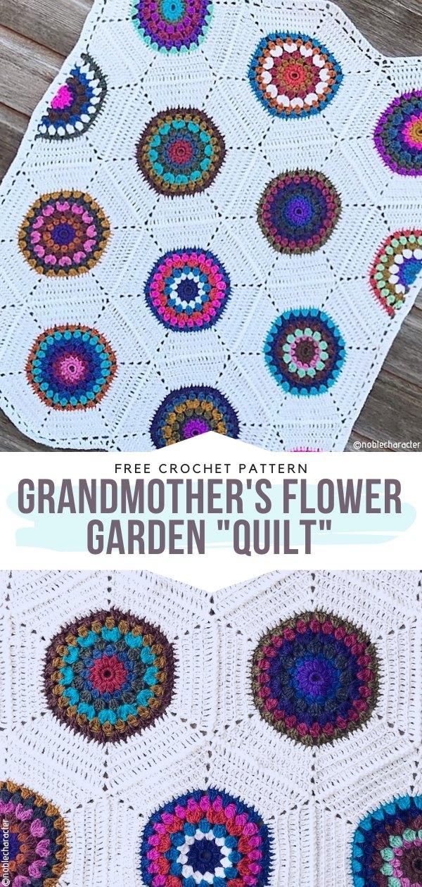 Grandmother's Flower Garden _Quilt_ Free Crochet Pattern