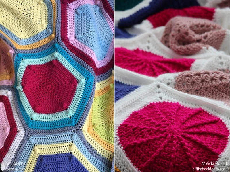 Hexagon Craze Blankets Free Crochet Patterns
