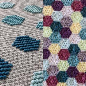 Hexagon Magic Blankets Free Crochet Patterns