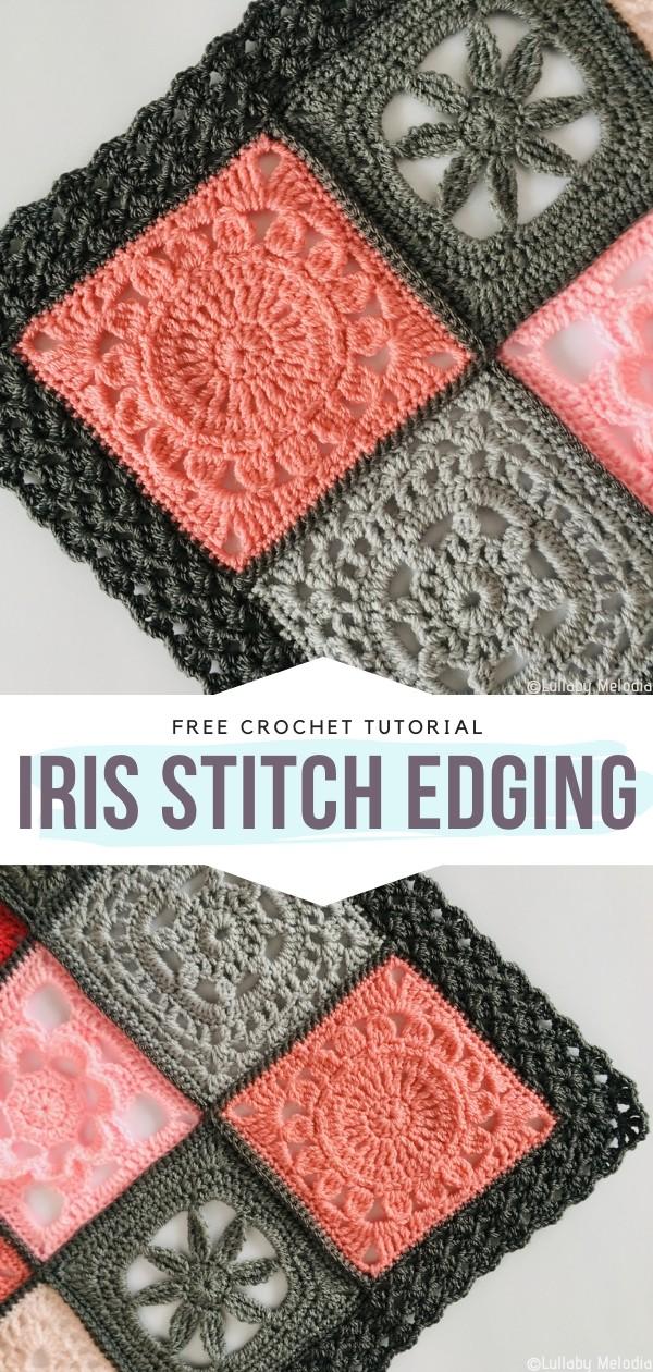 Iris Stitch Edging Free Crochet Pattern