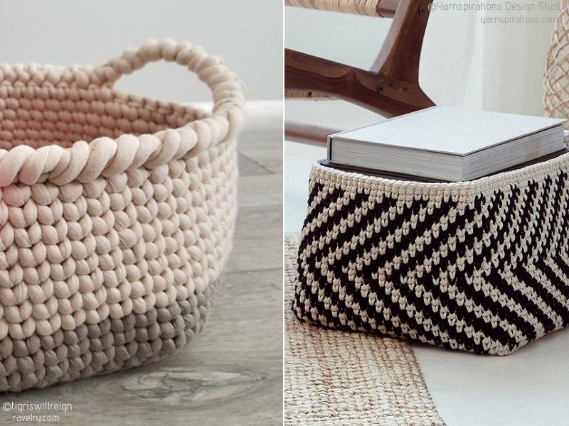 Modern Home Crochet Baskets