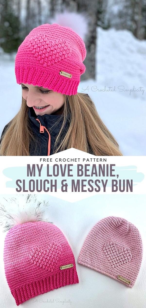 My Love Beanie Free Crochet Pattern