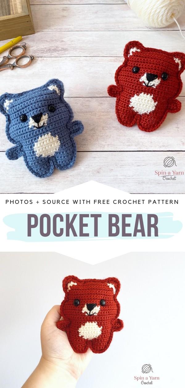 Pocket Bear Free Crochet Pattern