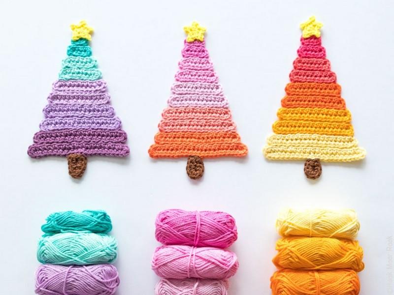 Simple Christmas Trees Free Crochet Patterns