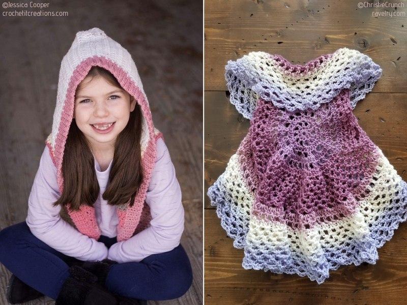 Baby Girl's Crochet Vests