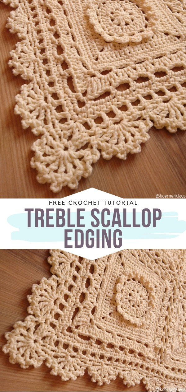 Treble Scallop Edging Free Crochet Pattern