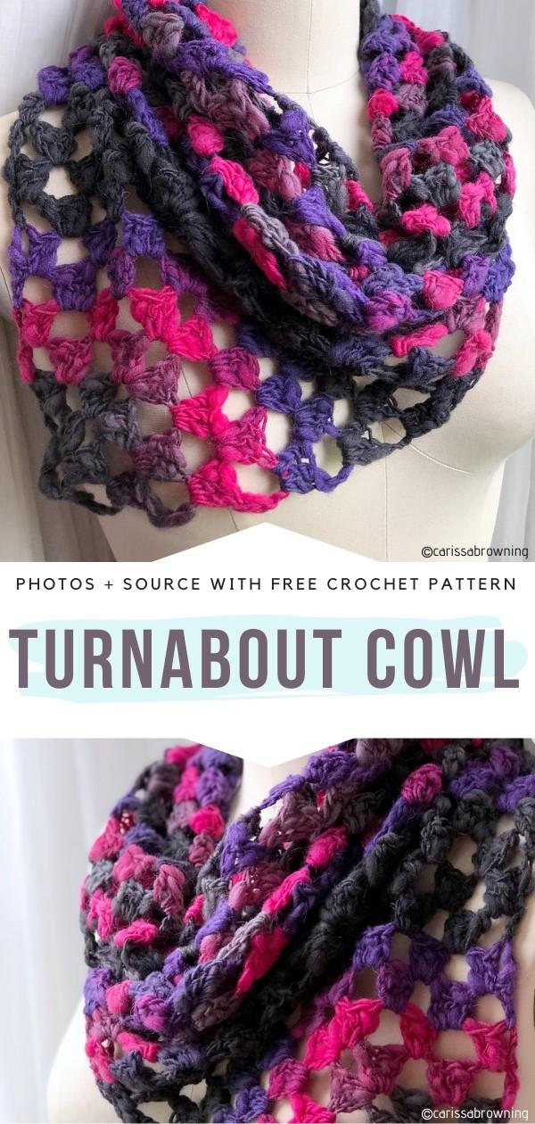 Turnabout Cowl Free Crochet Pattern