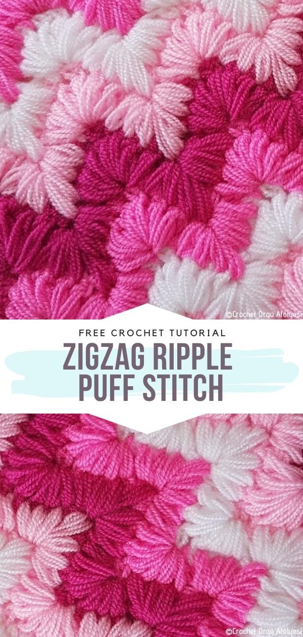 ZigZag Ripple Puff Stitch Free Crochet Pattern