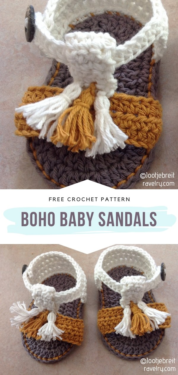 boho crochet baby sandals