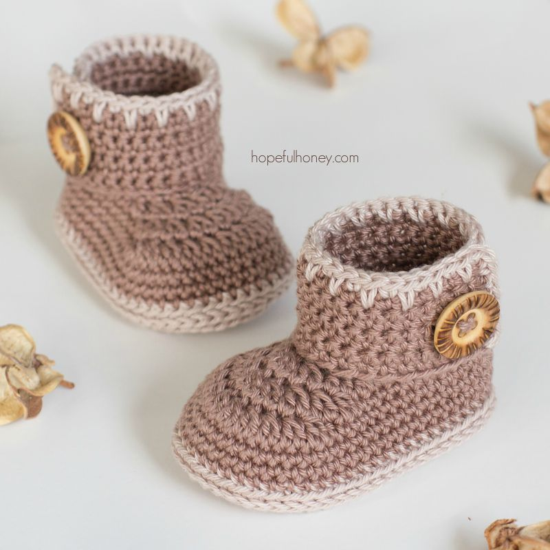 Free Crochet Pattern Cocoa Baby Ankle Booties