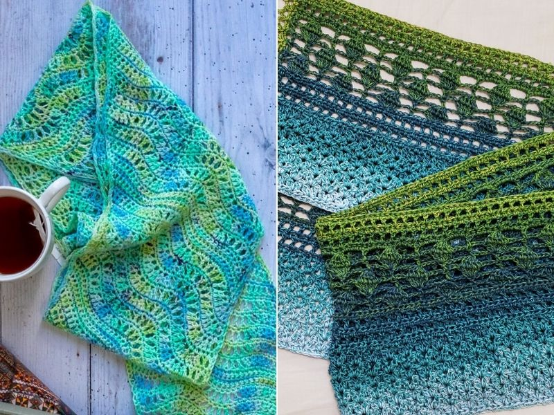 Free Patterns Delicate Crochet Scarves