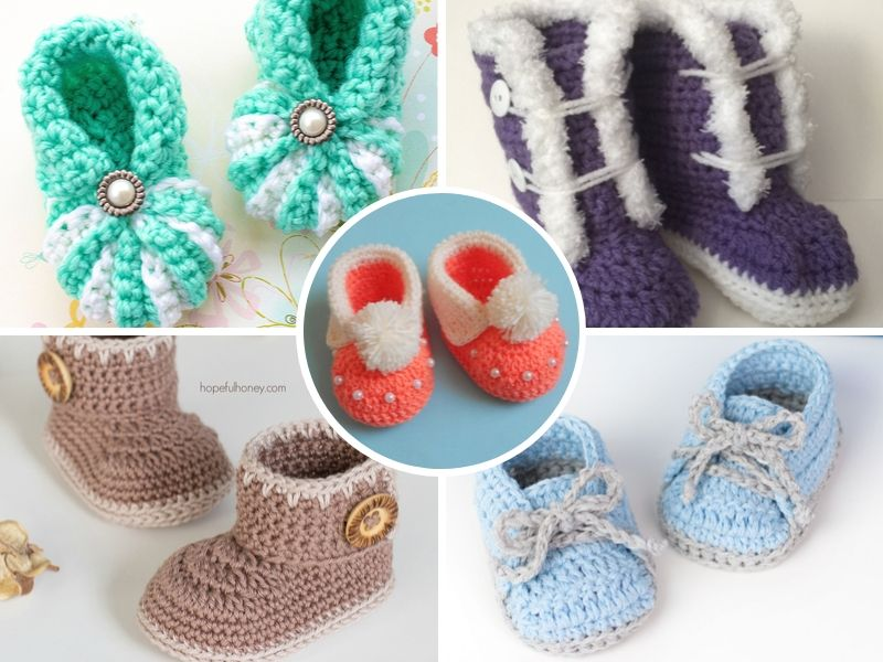 Free Crochet Patterns Easy Baby Booties