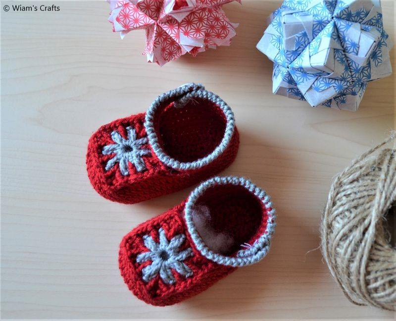 Free Crochet Pattern Granny Square Baby Booties