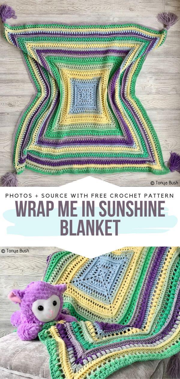 Free Crochet Pattern Wrap Me in Sunshine Blanket