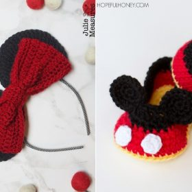 Mickey Mouse Baby Booties with Free Crochet Patterns