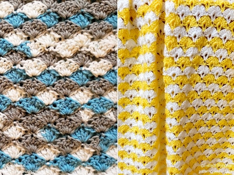 Lovely Shell Stitch Blankets with Free Crochet Patterns
