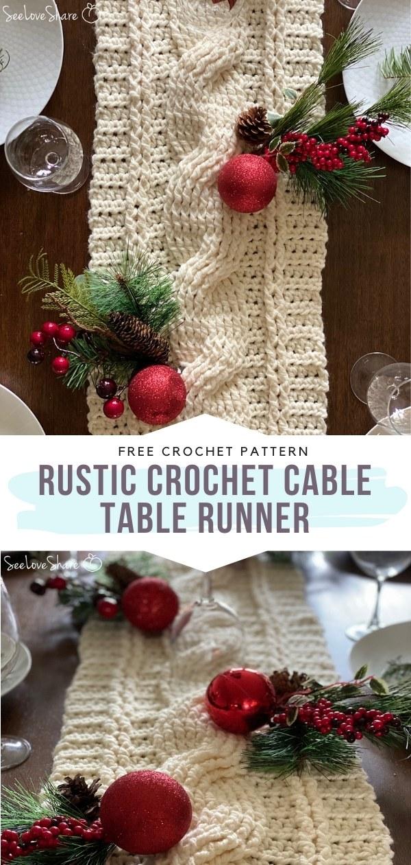 Crochet Cable Table Runner