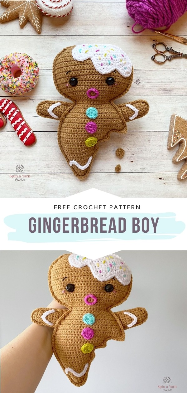 Crochet Gingerbread Toy