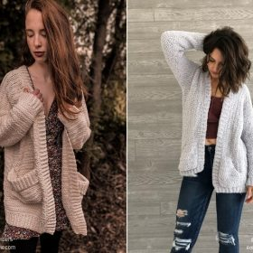 Comfy Pocket Cardigans with Free Crochet Patterns